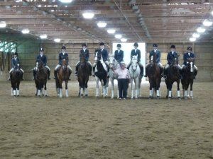 Riding Lesson students in Drill Team